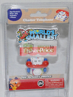 Worlds Smallest Fisher Price Classic Chatter Phone Collectable