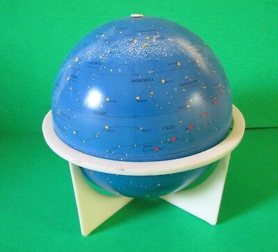 "Vintage Celestial 6"" Tin Litho Globe with Stand by Replogle"