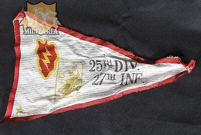 Vietnam War Era 25th Div 27th Inf. Silk Pennant Flag