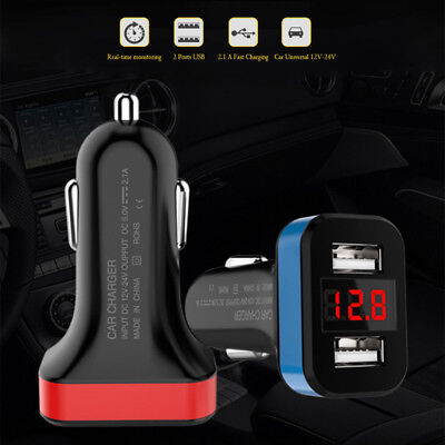 Chargeur Auto 4.8A Rapide Double Port USB Allume-Cigare Voltage Wh