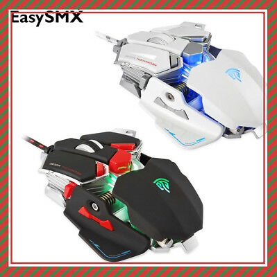 EasySMX Gaming Mouse Wired USB 4000 DPI 9 Programmable Keys Combaterwing Optical