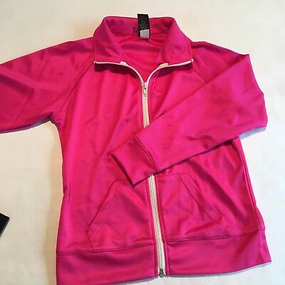 Balera Dance Costume Hip hop Zip Front Track Jacket Pink + check shirt Adult S