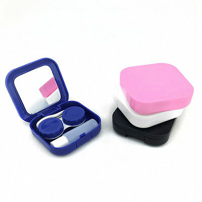 Portable Contact Lens Case Container Travel Kit Set Storage Holder Mirror Box CN