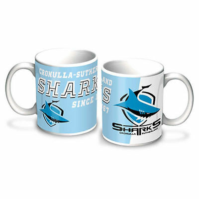 Cronulla Sharks NRL Gift Team Logo Ceramic Coffee Cup Mug