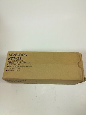 NEW Kenwood KCT-23 DC Power Cable Ham Radio 23 feet