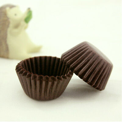 Solid Coffee Mini Paper Cake Cup Liners Baking Cupcake Cases 300/1000/6000 Pcs