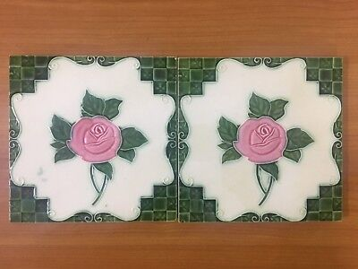 Majolica Tile Vintage Japan Collectible Rare Art Antique Nouveau C1900