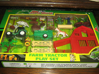 FARM TRACTOR PLAY SET No 1 - THE FARM WORLD SERIES - BOXED - 3+