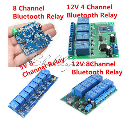 12V 4/8CH Bluetooth Relay Android Mobile Remote Control Motor 5V Relay Module
