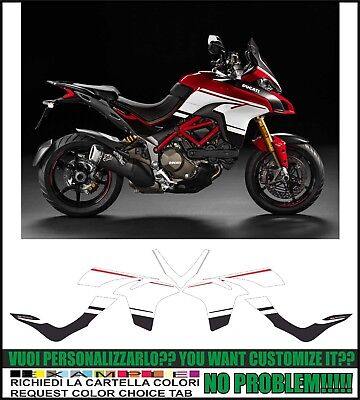 kit adesivi stickers compatibili  multistrada 1200 2015-2017 pikes peak