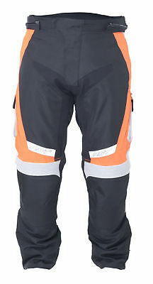 RST 1889 Rallye Motorcycle Motorbike Breathable CE Textile Trousers - Fluo Red