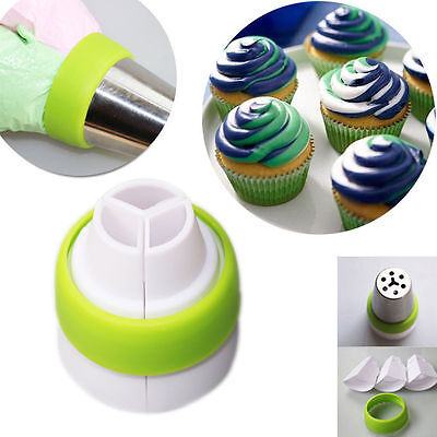 Icing Piping Bag Adapter Fondant Cake Decorating Nozzle Coupler Converter Too J&