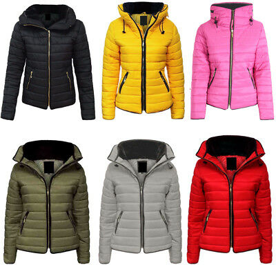 Kids Girls Quilted Jacket Puffer Bubble Padded Collared Zip Up Warm Winter Coat