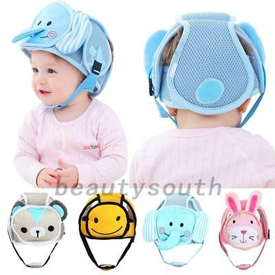 Infant Baby Toddler Safety Helmet Hat Headguard Walk Cap Kids No Bumps Protector