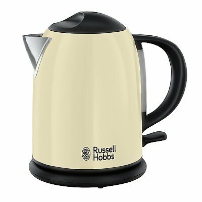 RUSSELL HOBBS 20194-70 Colours Plus+ Classic Cream Kompakt-Wasserkocher 1 L