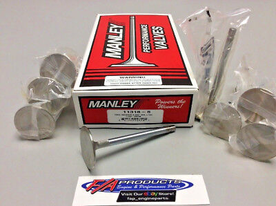 "Manley 11318-8 2.02"" Small Block Chevy Race Master +.100"" Intake Valves Set Of 8"