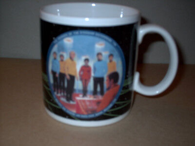 """Beam us down SCOTTY"" - STAR TREK  Sammeltasse Keramik 1991"