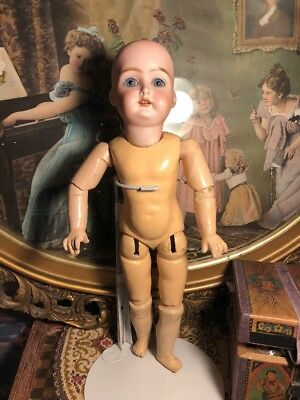 ~ As Found!Antique German Child Doll #199 w/Pierced Ears & Straight Wrists ~