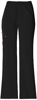 Dickies Xtreme Stretch 82012T Women's Jr. Fit Mid-Rise Pull-On Cargo Pant