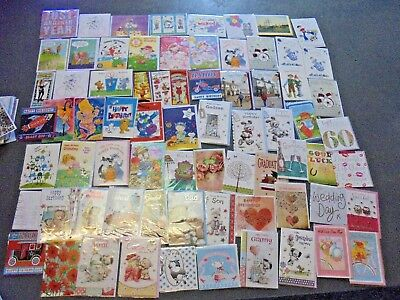 50 x novelty joblot boys girls gift GREETING BIRTHDAY CARDS wholesale car boot