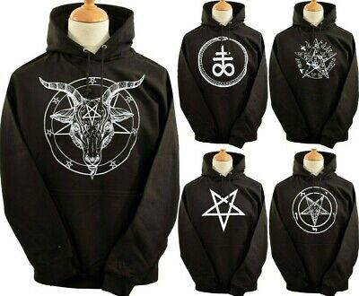 Unisex Hoodie Hoody Baphomet Pentagram Satantic Occult Church Of Satan Goat S-5X