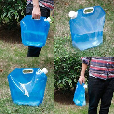 PE Folding 5 /10L Drinking Water Bag Container Barrel Carrier Camping Picnic BBQ