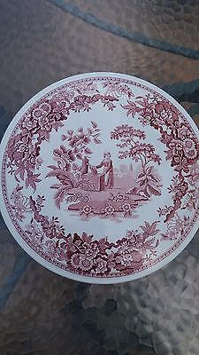 """Vintage The Spode Archive Collection Georgian Series Girl At Well Plate 11.5"""""""