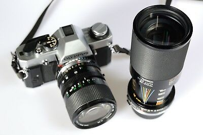 Olympus OM20 35mm SLR Camera with two lenses...