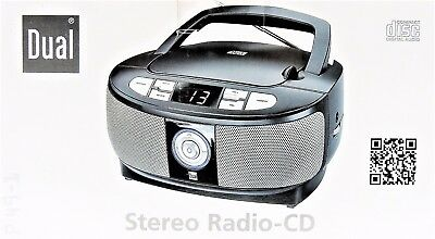 CD Player UKW Radio Tragbar Stereo Boombox Dual P49-1 LED-Display Schwarz