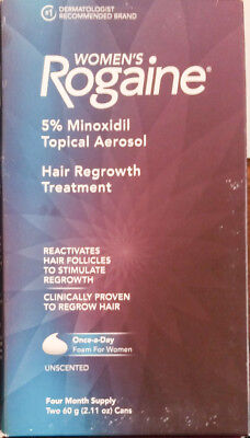 Women's Rogaine FOAM Hair Regrowth Treatment 5% 4 Month Supply New EXP 07/2017