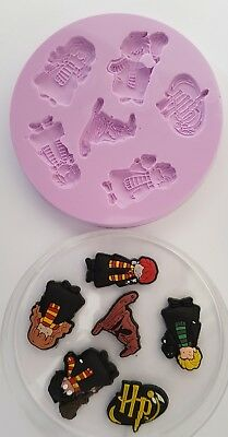 Harry Potter Characters Silicone Mould For Cake Toppers Etc