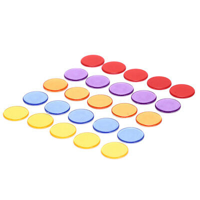 50pcs 1.5cm count bingo chips markers for bingo game plastic poker chips Gut