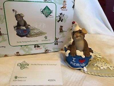 """Charming Tails """"ITS MY PIEROGI -TIVE TO LOVE YOU"""" SIGNED BY DEAN GRIFF NIB"""