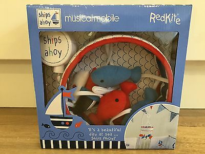 Red Kite Ships Ahoy Musical Lullaby Mobile