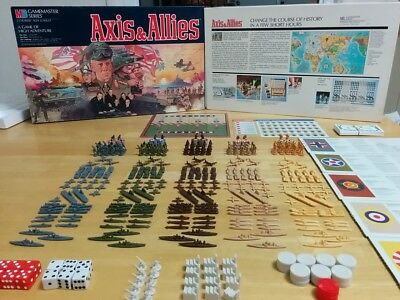 Axis & Allies Spring 1942  - MB Gamemaster Game - 1987 Unplayed + Complete!