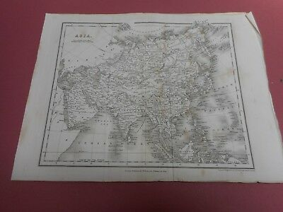 100% Original Asia China India Borneo Map By Orr/dower C1828 Vgc Low Start