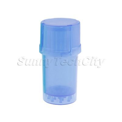 1Pc 3 Parts Spice Mill Plastic Herb Grinder Can Tobacco Storage Case 40*90mm