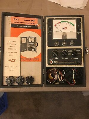 Vintage B & K CRT Cathode Rejuvenator Tester Model 445 Untested