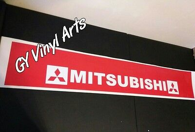 Mitsubishi Evo Windshield Sun Visor Strip Decals Cars Stickers Banners