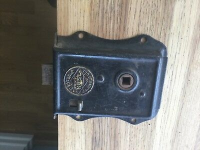 Vintage RUSL rim door latch lock