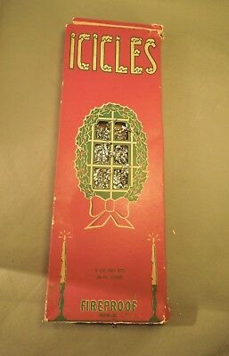 Franke Fireproof Icicles 944W-25 Vintage Winter Christmas Leaded Tinsel Decor