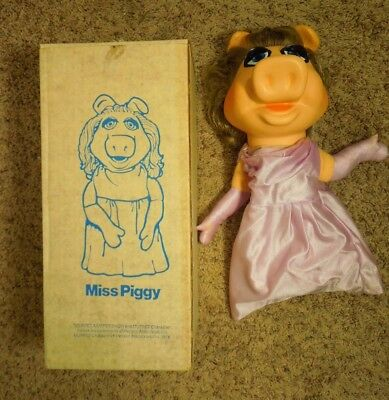 1970's Fisher Price Toys The Muppets Miss Piggy Puppet In Box #855