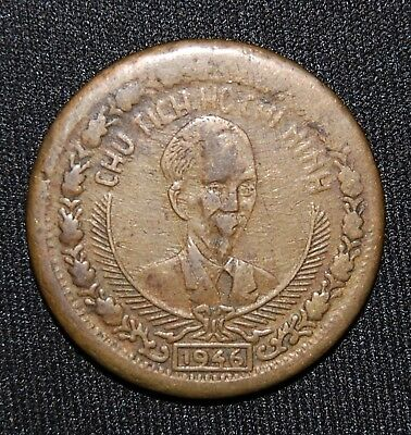 ~~~1946 Vietnam 2 Dong Chu Tich Ho Chi Minh Km #4 Rebel Communist State Coin~~~