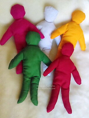 1 x YELLOW POPPET DOLL WITH INSTRUCTIONS 250mm Wicca Witch Pagan Goth VOODOO