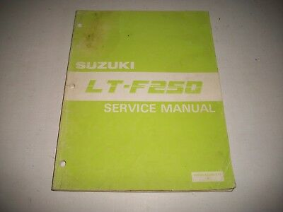 Official 1987 Suzuki Lt-F250 Atv Shop Service Manual More Listed