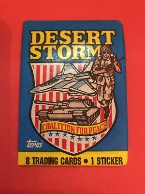 Desert Storm Blue Topps 1991 Wax Trading Cards Pack Unopened