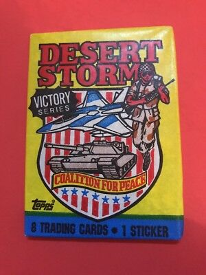 Desert Storm Yellow Topps 1991 Wax Trading Cards Pack Unopened