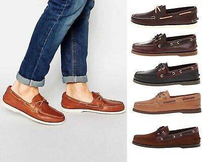Men's SPERRY Top Sider Authentic Original Slip On Leather Boat Shoes EXTRA WIDE