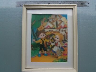 1960's 3D Animation Framed Print .. Rare Find ... Hansel And Gretel