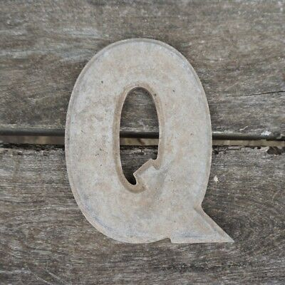 Vintage Marquee Theater Letter Q Wagner Sign Service 8 Inch Antique Q1